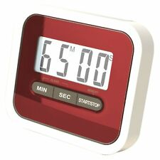 Magnetic LCD Digital Kitchen Timer Count Up Down Cooking Alarm Red UK Ship