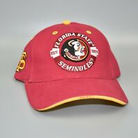 FSU Florida State Seminoles NCAA Vintage Adjustable Strapback Cap Hat