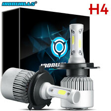 H4 Motorcycle 1300W LED Headlight Hi/Lo Beam Light Bulb Lamp 6000K Conversion 2X