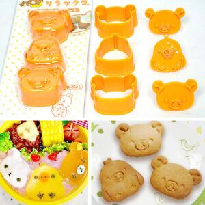 Rilakkuma Relax Bear San-X Sushi Rice Vegetable Cookie Mold Cutter Bento Bakery