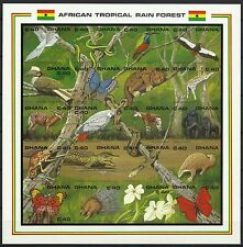 Ghana Oiseaux Birds Vogel Papillons Non Denteles Imperfs Proofs Essay ** 1990
