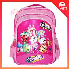 New Kids Girls Large School Bag Shoulder Backpack Campus Rucksack Shopkins Gift