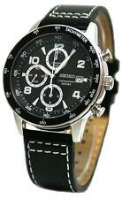 SEIKO SND729 SND729P1 Men Alfie Chronograph Black Dial 100m Quartz Watch