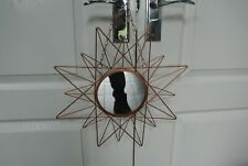 "16"" Wall Hanging / Hallway Copper coloured Sunburst Mirror"