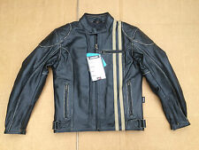 "Mens Classic Distressed Leather Motorcycle Jacket 36""- 38"" Chest Cafe Racer(B22)"