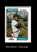 1974 Rod Carew Topps Baseball Card Free Shipping
