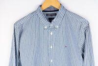 Tommy Hilfiger Men Casual Shirt New York Fit Blue Striped Cotton size L