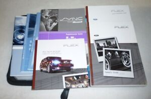 2010 FORD FLEX OWNERS MANUAL SET 10 w/case + SYNC GUIDE SE SEL LIMITED