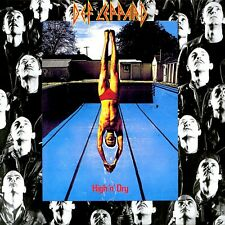 DEF LEPPARD High N Dry BANNER HUGE 4X4 Ft Fabric Poster Tapestry Flag album art
