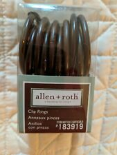 """NEW Allen + Roth 10-Pack Metal Curtain Clip Rings fits 1"""" Sienna Bronze 183919"""
