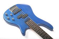 Santander 5-Saiter E Bass Bassgitarre, P/J PU's, Tasche, Kabel, Gurt, metal-blue