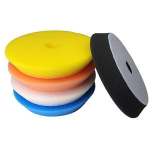 5 tlg. Craft-Equip PRO Ø125mm Polierschwamm-Set weich mittel hart Polierpad Pad