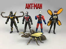 5Pcs Marvel Superhero Ant-Man, Ant Man WASP Yellow Jacket Action Figures