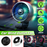 Car Air Conditioning Fan Vent USB Fan Cooling Wind Outlet Fan Clip On Portable
