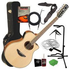 Yamaha APX700II-12 Acoustic-Electric Guitar - Natural COMPLETE GUITAR BUNDLE