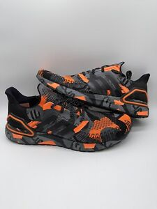 Adidas UltraBOOST 20 Future Camo Geometric Orange Black FV8330 Mens US Size 14