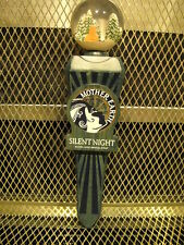 MOTHER EARTH BREWING Co NC RARE Silent Night BA Stout Globe Top Beer Tap Handle