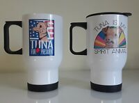 Pair Insulated Coffee Travel Mugs Cups Election Ugly Dog Tuna Spirit Animal VOTE