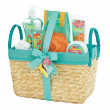 Coconut Lime Tropical Spa Basket Set - Bath Relaxing Warm Water Soothing