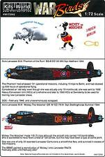 Kits World Decals 1/72 AVRO LANCASTER Mickey the Moocher & Phantom of the Ruhr