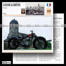 #014.08 GNOME & RHÔNE 500 D4 1929 Fiche Moto Classic Motorcycle Card