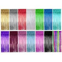 Shimmer Door Curtain & Fringe Garlands All Colours and Packs / Foil Curtains