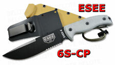 ESEE Model 6 Clip Point Serrated With Molded Sheath 6S-CP