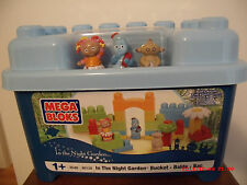 htf  Mega Bloks in the night garden Bucket Set  30 pc   balde bac brand new