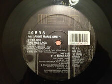 "49ERS feat Anne Marie Smith - THE MESSAGE - 1992 Italian 12"" Vinyl HOUSE - EXC"