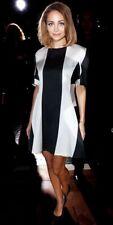 Stella McCartney Silk Black And Cream Striped Bianca Short Sleeve Dress Size 40