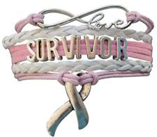 Breast Cancer Bracelet, Cancer Awareness, Cancer Survivor Gift