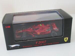 KIMI RAIKKONEN F2007 CHINA GP 200th FERRARI VICTORY HOT WHEELS ELITE 1:43
