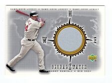MANNY RAMIREZ  MLB 2002 UPPER DECK GLOBAL SWATCH GAME JERSEY (BOSTON RED SOX )