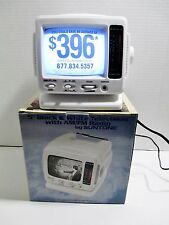 "Suntone Portable Television Analog TV AM FM AV Input 5"" Black & White Picture"