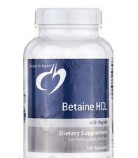 Betaine HCL with Pepsin - 120 caps - Designs for Health