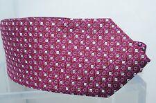 New Salvatore Ferragamo Mens Red Tie Fuxia Logo Silk Classic Neckwear