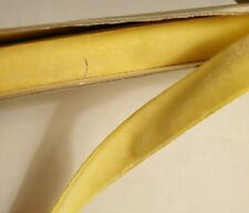 "Soft Velvet Ribbon woven edge pale yellow 15mm 1/2"" x 1m"