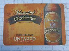 Beer Brewery Coaster >< YUENGLING Brewing Oktoberfest ~ Pottsville, PENNSYLVANIA