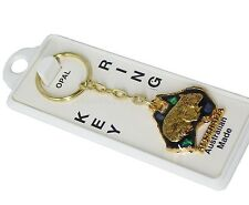 Australian Made Key Ring Souvenir Australia Wombat Gold Plated Opal Chip