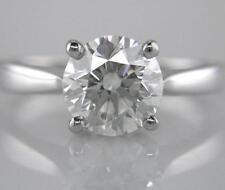 Diamond Solitaire Platinum Engagement Ring Certificated 2.21ct Round Brilliant