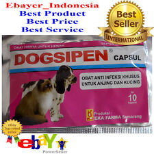 10 CAPS DOGSIPEN - ANTI INFECTION AMPICILIN - FOR FEVER/COUGH/RED EYES DOG CAT i