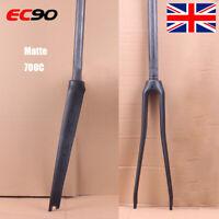 """UK EC90 Carbon Road Bike 700C Fork Straight Tube 1-1/8"""" Threadless Matt Fork"""