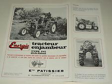RARE Prospectus Motoculteur Tracteur Enjambeur ENERGIC  traktor tractor prospekt