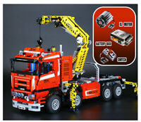 New Custom Technic Crane Trucks 8258 Motor Power CompaTible Set 1877 pcs