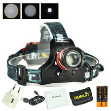Outdoor Zoomable Headlamp XP-G LED Headlight 2X18650 Head Torch Camping Fishing