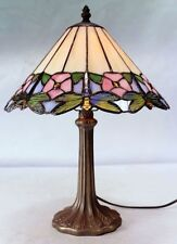 Petalia Bedside Lamp - Tiffany Style Handcrafted Leadlight Lamp - New