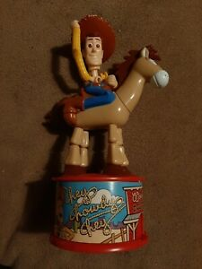 """1999 Toy Story 2 Woody & Bullseye McDonald's 8"""" Candy Dispenser Movable Figurine"""