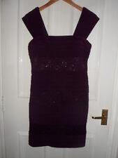 Vestido de Noche ** Boda Sexy Lentejuelas púrpura Size UK 10-12