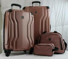 TAG LEGACY 4 PIECE HARDSIDE SPINNER LUGGAGE SET PINK USED 5