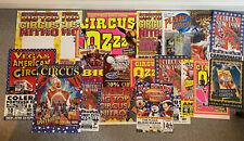 Lot of 19 different Irish circus posters - Vegas, Fossetts, New York, Nitro, Ozz